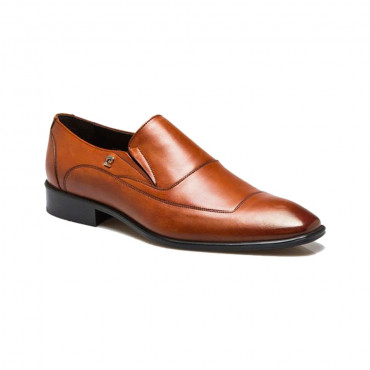 Brown shoes cushion